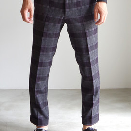 RAINMAKER KYOTO - CHECK ANKLE TROUSERS/GRAY CHECK