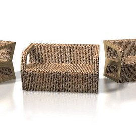 Drydesign - Spark Cardboard Chair and Sofa by Paolo Gentile