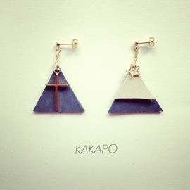 KAKAPO - W  triangle cross × mountain pierce (NO.395)