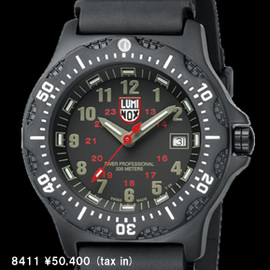 LUMINOX - U.S.NAVY SEALs DIVE WATCH SERIES BLACK OPS STAINLESS 8411