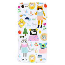布川愛子 - iPhone5/5Sケース「Dressed up cats」