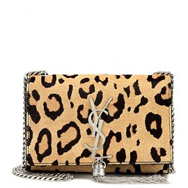 SAINT LAURENT - Classic Monogram printed calf hair shoulder bag