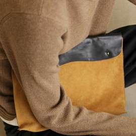 hobo×grocerystore. - Oiled Leather Clutch Bag