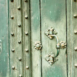 rebeccaplotnick - Mint Green Doors in Southern France - 8x10 Fine Art Photograph- affordable home decor