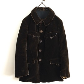 LILY1ST VINTAGE - 1940'S FRENCH HEAVY CORDUROY HUNTING JACKET