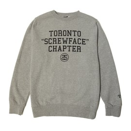 Stussy - Stussy Toronto 'Screwface' Sweatshirt - Grey/Black