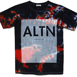 TANGTANG × Ribbonwood - ALTN Tie Dye Tee - White Print / Assorted