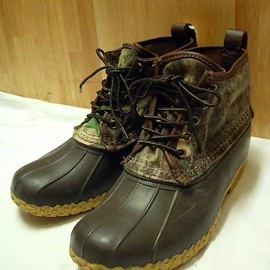 "L.L.Bean - WAXED CANVAS 6"" Maine Hunting Shoe Camouflage"