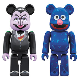 MEDICOM TOY - BE@RBRICK COUNT VON COUNT & GROVER 2 PACK