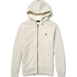 Polo Ralph Lauren - Marl Cotton-Blend Zip-Up Hoodie