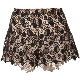 VERSACE - patterned lace shorts
