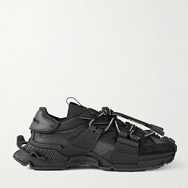 DOLCE&GABBANA - Space Leather- and Suede-Trimmed Rubber and Shell Sneakers