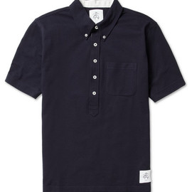 Black Fleece - Black Fleece Button-Down Cotton-Piqué Polo Shirt