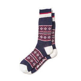 White Mountaineering - COTTON JACQUARD CROSS BORDER PATTERN MIDDLE SOCKS
