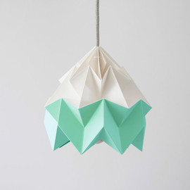 nellianna - Moth origami lampshade Ice Mint green and white