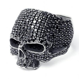 JAM HOME MADE - MASTER SKULL RING PAVE (BLACK)