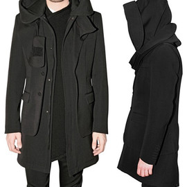 GIVENCHY - Fall 2010 Hooded Parka Jersey Coat