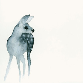 Catherina - Deer Fawn - Fine Art Print from Original Watercolor