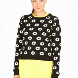 OPENING CEREMONY - 2013/SS○Opening Ceremony○Reversible Floral Long-Sleeve Pullover/black+ivory 1