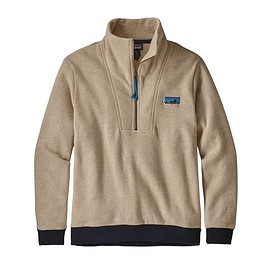patagonia - M's Woolie Fleece Pullover, Oatmeal Heather (OAT)