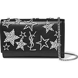Saint Laurent - Monogramme Kate medium crystal-embellished leather shoulder bag