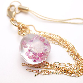 Hariqua - Ruby & Rose quartz mobile strap