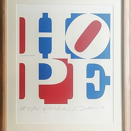 ROBERT INDIANA - HOPE, 2008 Silkscreen on 100% Rag Acid Free Paper