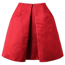 CARVEN - Structured technical satin skirt