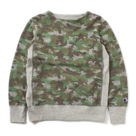 nanamica×Champion - Camouflage Crew Neck Sweat