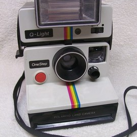 Polaroid - OneStep SX-70 White/Rainbow Camera