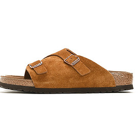 BIRKENSTOCK - Zurich Suede Leather-Brown