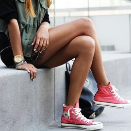 CONVERSE - Raspberry Chuck Taylor All Star High-Tops