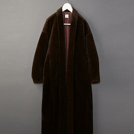 6(ROKU) - FAKE FUR SHAWL COLLAR COAT