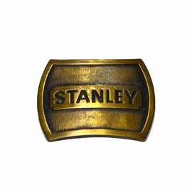 VINTAGE - Vintage 1978 Stanley Tools Solid Brass Belt Buckle