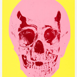 damien hirst - Till Death Do Us Part - Heaven - Lemon Yellow Pigment Pink Chilli Red Pop Skull – Damien Hirst