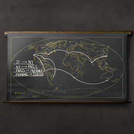 Restoration Hardware - Military Chalkboard World Map