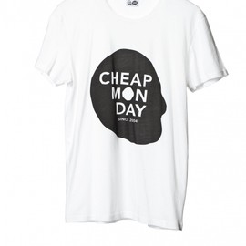 CHEAP MONDAY - BRUCE CHEAP SKULL TEE WHITE