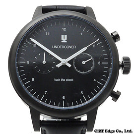 UNDERCOVER(アンダーカバー) - クロコ型押しWATCHFUCKTHECLOCK(腕時計)BLACK287-000187-011x【新品】
