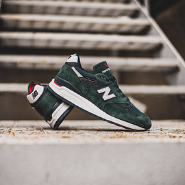 New Balance - M998CHI - Deep Green/White/Red