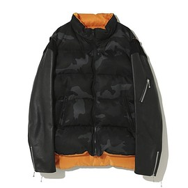 UNDERCOVER, VALENTINO - 30th Anniversary Leather sleeve down jacket  Edited by Valentino UC1A9201