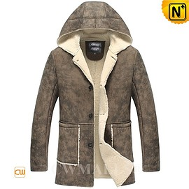 CWMALLS - CWMALLS® Vintage Shearling Hooded Jacket CW838012