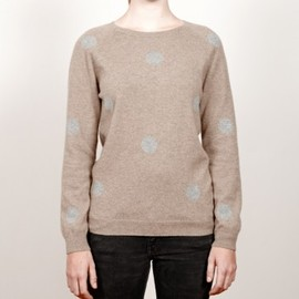 CHAUNCEY - Cashmere polka dots crew neck sweater
