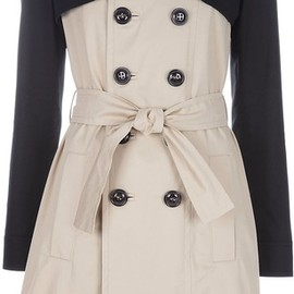 Dsquared2 - Beige Two-Tone Trenchcoat