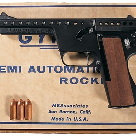 MBA - Gyrojet Pistol Mark II Model  with Box and Three Gyrojet Rounds
