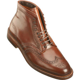 ALDEN - Men's 9 Eyelet Wing Tip Boot Shell Cordovan