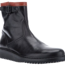 Ann Demeulemeester - Ann Demeulemeester Vitello Lux Boots in Black for Men - Lyst