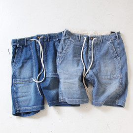 orSlow - Fatigue Shorts Easy - Denim