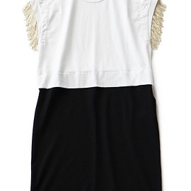 TOGA ODDS&ENDS - Fringe One Piece (white)
