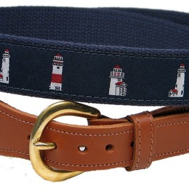 Preston Leather - Preston Leather Lighthouse Belt Blue
