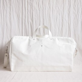 i ro se - Blank Canvas BOSTON BAG #white